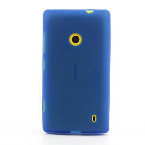 Gelové matné pouzdro na Nokia Lumia 520 - modré - 2