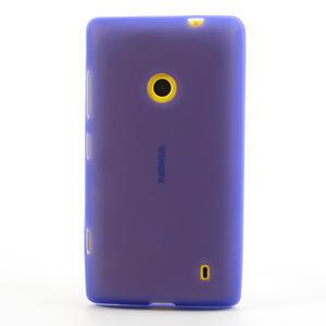 Gelové matné pouzdro na Nokia Lumia 520 - fialové - 2