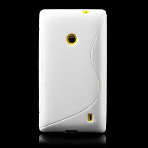 Gelové S-line pouzdro na Nokia Lumia 520- bílé - 2