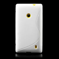 Gelové S-line pouzdro na Nokia Lumia 520- bílé - 2/6