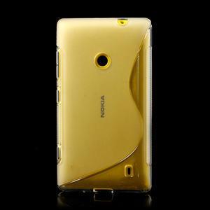 Gelové S-line pouzdro na Nokia Lumia 520- transparentní - 2