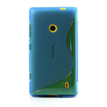 Gelové S-line pouzdro na Nokia Lumia 520- modré - 2/6