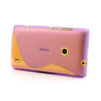 Gelové S-line pouzdro na Nokia Lumia 520- fialové - 2/5
