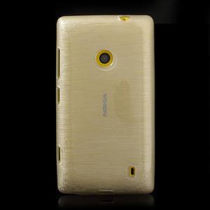 Gelové kartáčové pouzdro na Nokia Lumia 520- bílé - 2