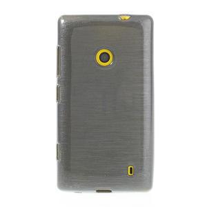 Gelové kartáčové pouzdro na Nokia Lumia 520- šedé - 2