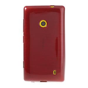 Gelové kartáčové pouzdro na Nokia Lumia 520- červené - 2