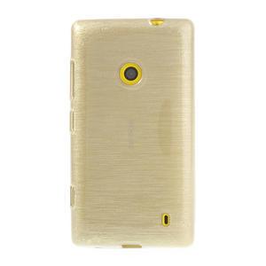 Gelové kartáčové pouzdro na Nokia Lumia 520- zlaté - 2