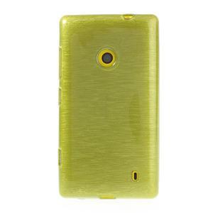 Gelové kartáčové pouzdro na Nokia Lumia 520- zelené - 2