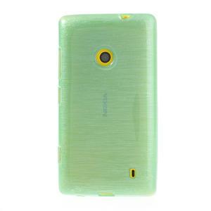 Gelové kartáčové pouzdro na Nokia Lumia 520- zelenomodré - 2