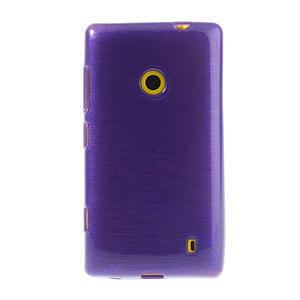 Gelové kartáčové pouzdro na Nokia Lumia 520- fialové - 2