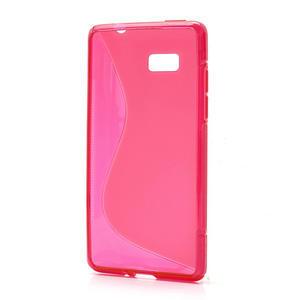Gelové S-line pouzdro pro HTC Desire 600- červené - 2