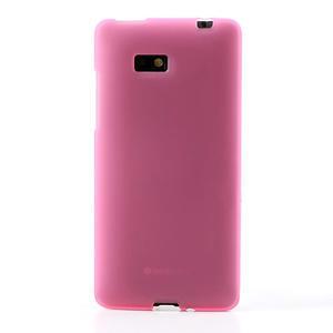 Gelové matné pouzdro pro HTC Desire 600- světlerůžové - 2