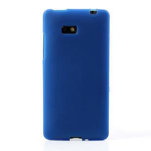 Gelové matné pouzdro pro HTC Desire 600- modré - 2