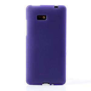 Gelové matné pouzdro pro HTC Desire 600- fialové - 2