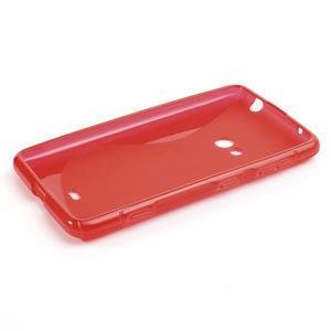 Gelové S-line pouzdro pro Nokia Lumia 625- červené - 2
