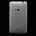 Gelové matné pouzdro pro Nokia Lumia 625- bílé - 2/5