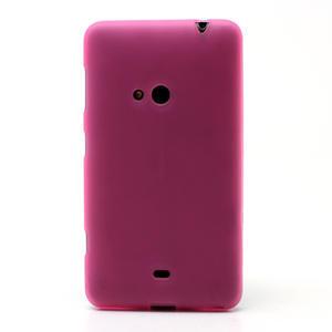 Gelové matné pouzdro pro Nokia Lumia 625- růžové - 2