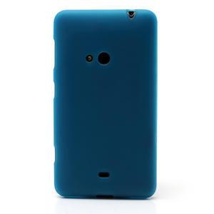 Gelové matné pouzdro pro Nokia Lumia 625- světlemodré - 2