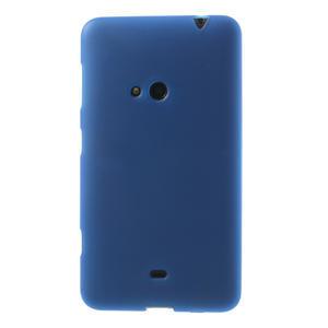 Gelové matné pouzdro pro Nokia Lumia 625- modré - 2