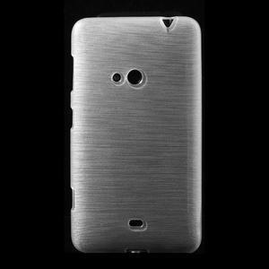 Gelové kartáčové pouzdro na Nokia Lumia 625 - bílé - 2