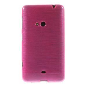 Gelové kartáčové pouzdro na Nokia Lumia 625 - růžové - 2