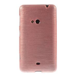 Gelové kartáčové pouzdro na Nokia Lumia 625 - světlerůžové - 2