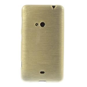 Gelové kartáčové pouzdro na Nokia Lumia 625 - zlaté - 2