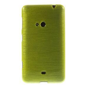 Gelové kartáčové pouzdro na Nokia Lumia 625 - zelené - 2