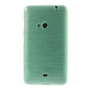 Gelové kartáčové pouzdro na Nokia Lumia 625 - cyan - 2