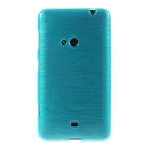 Gelové kartáčové pouzdro na Nokia Lumia 625 - modré - 2