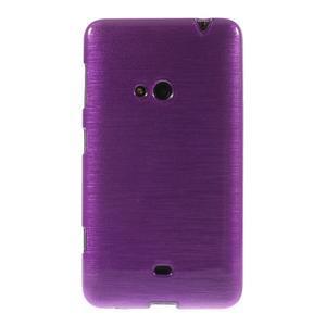 Gelové kartáčové pouzdro na Nokia Lumia 625 - fialové - 2