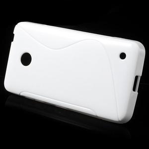 Gelové S-line pouzdro na Nokia Lumia 630- bílé - 2