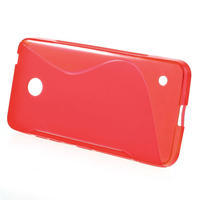 Gelové S-line pouzdro na Nokia Lumia 630- červené - 2/5
