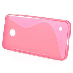 Gelové S-line pouzdro na Nokia Lumia 630- růžové - 2