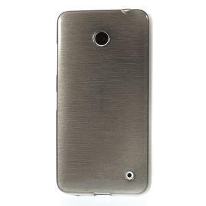 Gelové Kartáčové pouzdro na Nokia Lumia 630- šedé - 2