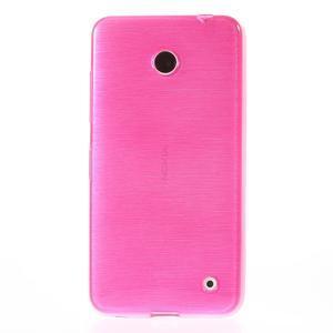 Gelové Kartáčové pouzdro na Nokia Lumia 630- růžové - 2