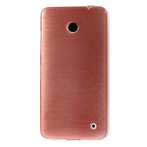 Gelové Kartáčové pouzdro na Nokia Lumia 630- světlerůžové - 2