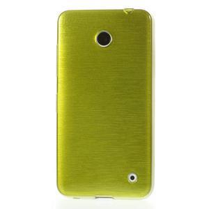 Gelové Kartáčové pouzdro na Nokia Lumia 630- zelené - 2
