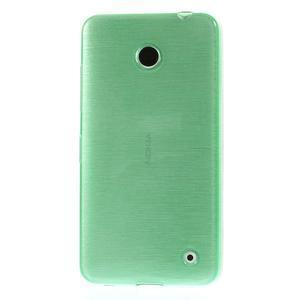 Gelové Kartáčové pouzdro na Nokia Lumia 630- zelenomodré - 2