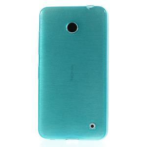 Gelové Kartáčové pouzdro na Nokia Lumia 630- modré - 2