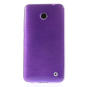 Gelové Kartáčové pouzdro na Nokia Lumia 630- fialové - 2