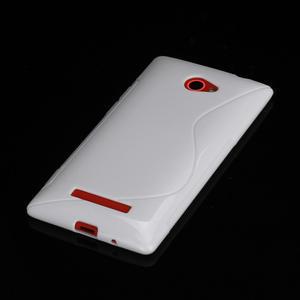 Gelové S-line pouzdro pro HTC Windows phone 8X- bílé - 2