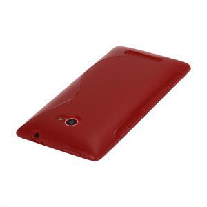 Gelové S-line pouzdro pro HTC Windows phone 8X- červené - 2