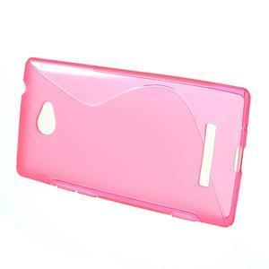 Gelové S-line pouzdro pro HTC Windows phone 8X- růžové - 2