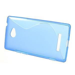 Gelové S-line pouzdro pro HTC Windows phone 8X- modré - 2