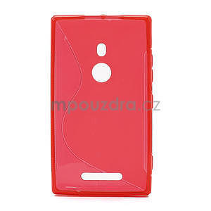 Gelové S-liné pouzdro pro Nokia Lumia 925- červené - 2