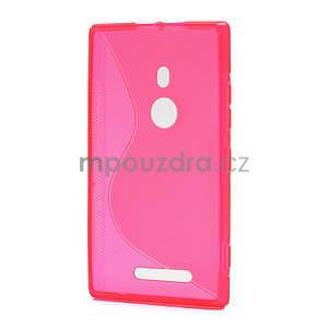Gelové S-liné pouzdro pro Nokia Lumia 925- růžové - 2