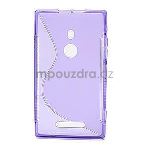 Gelové S-liné pouzdro pro Nokia Lumia 925- fialové - 2