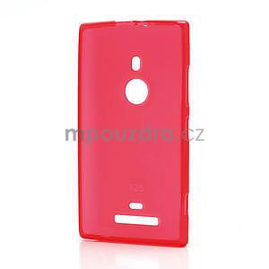 Gelové matné pouzdro pro Nokia Lumia 925- červené - 2