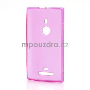 Gelové matné pouzdro pro Nokia Lumia 925- růžové - 2